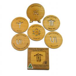 Aboriginal Art Coasters Timber