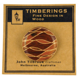 Inlaid Timber Broaches A
