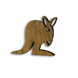 Kangaroo Timber Brooch