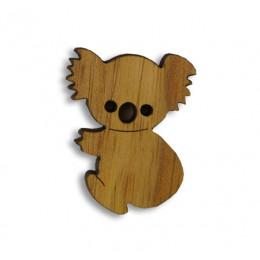 Koala Timber Brooch
