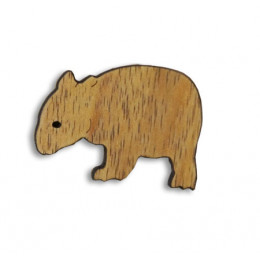 Wombata Timber Brooch