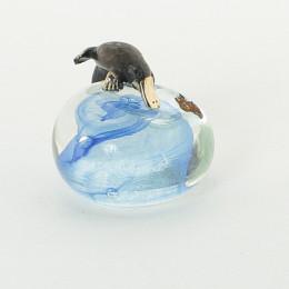 Platypus on Glass Blue