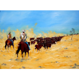 'Driving the Big Herd to Warwick' 2m x 1.5m
