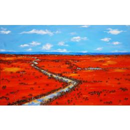 'Following the Rains' 120cm x 180cm
