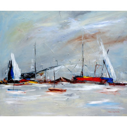 'Habour side, Boxing Day' 72cm x 100cm Framed