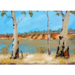 'On the Myrray River at Boundary Bend' 76cm 102cm