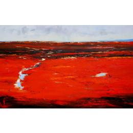 'Rain in the Inland' 100cm x 150cm Linen