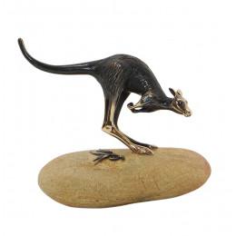 Kangaroo in Flight on Stone